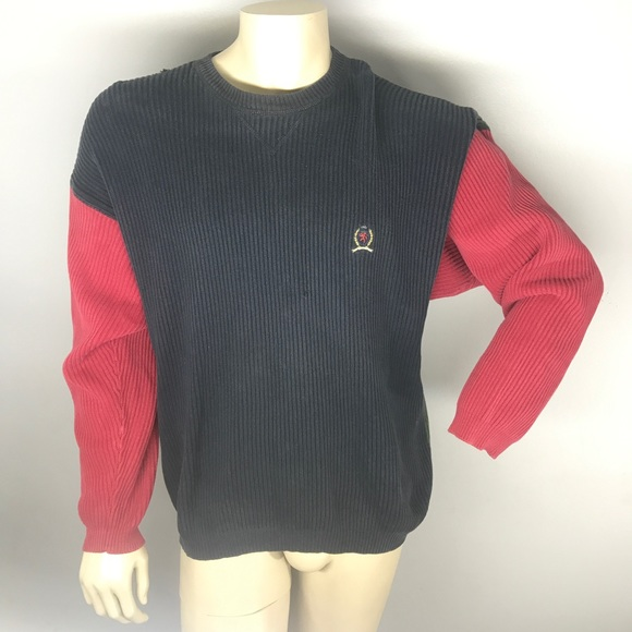 0b8203894 Tommy Hilfiger Sweaters | Vintage 90s Crest Knit Sweater | Poshmark